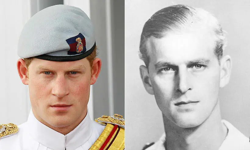 Prince Harry looks Identical to his late grandfather Prince Philip in Incredible Photo