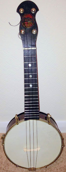Broadcaster Banjo Ukulele with steel resonator