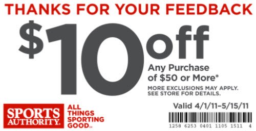 sports authority coupon $10 off