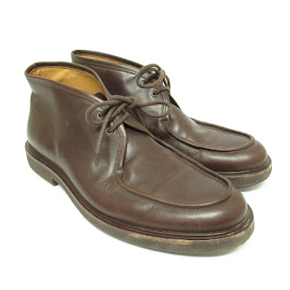 A.P.C. Brown Leather Chukkas