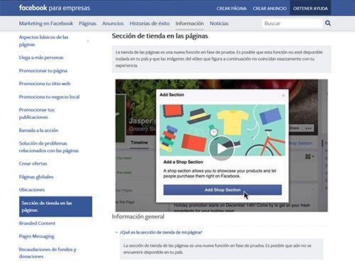 Tienda Online Facebook Conquista internet