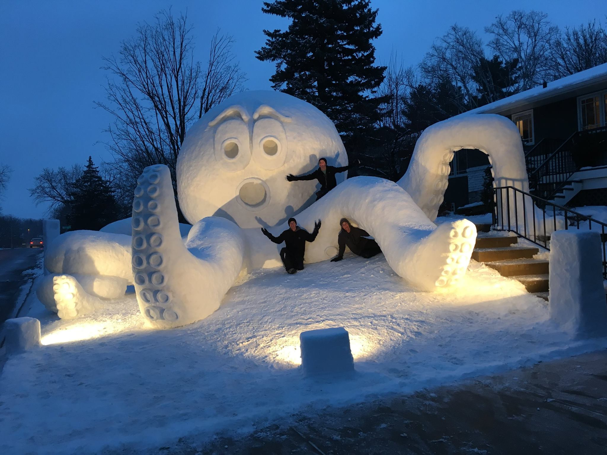Octavius the Octopus by Bartz Snow Scupltures