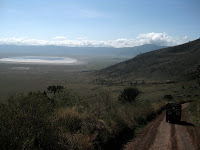 Cruising into Ngorongoro Crater