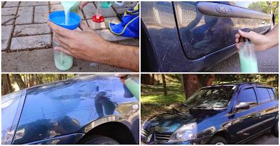 Como lavar o carro com um copo de água