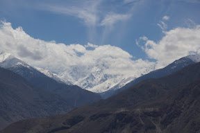The first sight of the Rakaposhi from Karakoram Highway