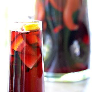 Pomegranate Sangria.
