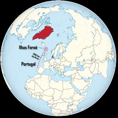 Ilhas Faroé mapa