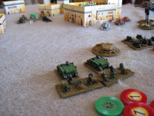 My Marines square off against Nat's Eldar.