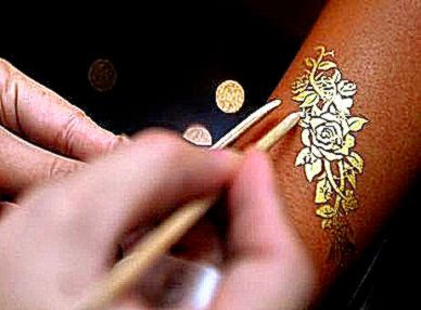 Golden henna the latest in body art bling  The National