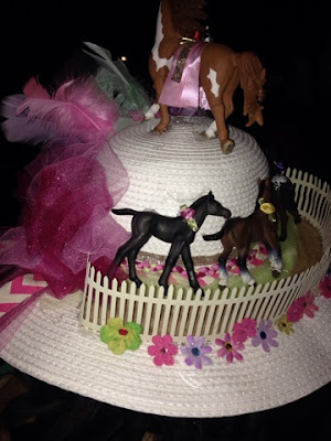 a kentuck derby themes hat for a kentucky derby party in boston's back bay