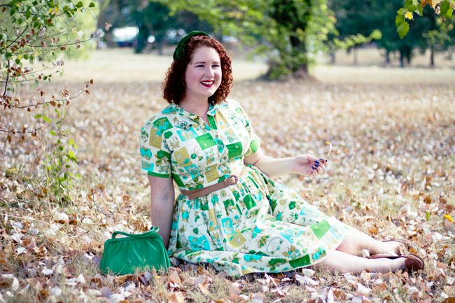 Wearing a true vintage, 1950s ensemble | Lavender & Twill
