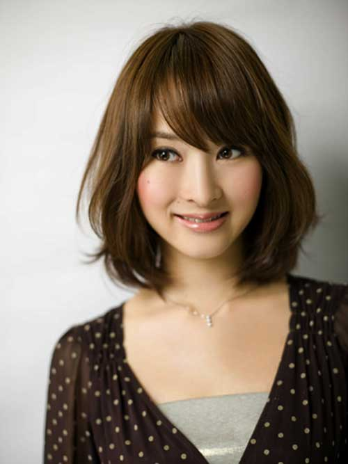 jerry curl hairstyle : Japanese Messy Bob with Bangs Hairstyle - Fashion Xe