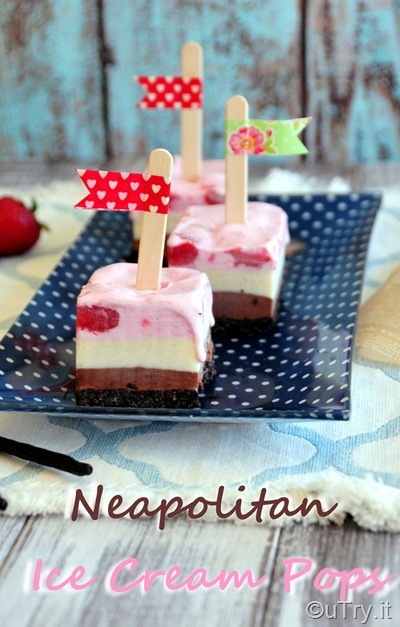 Neapolitan Ice Cream Pops