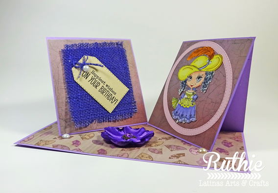 Julia Spirit - french Lady - Latinas Arts and Crafts - Ruthie Lopez - My Hobby My Art. 2