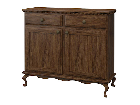 Queen Anne Credenza in Cocoa Cherry