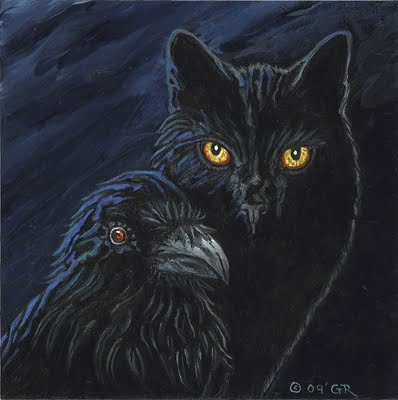 Black Cat And Raven, Ravens