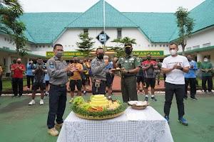 Penrem 061/SK Peringati HUT Dinas Penerangan Angkatan Darat ke - 70 Secara Sederhana