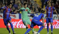 Goles Real Levante Barcelona resultado futbol Liga BBVA