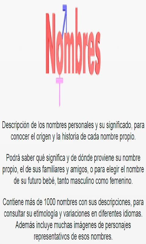 significado nombres para beb s android apps on google play. Black Bedroom Furniture Sets. Home Design Ideas