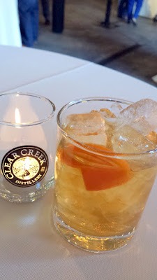 Clear Creek Distillery Turns 30! The Forest Old Fashioned cocktail curated by Merit Badge with Trails End Bourbon, Clear Creek Eau De Vie Douglas Fir, Simple Syrup, and The Bitter Housewife Aromatic Bitters