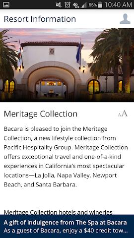 android Bacara Resort and Spa Screenshot 1