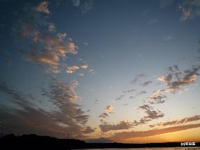 2009/9/9の夕焼け空です。左下に見えるのはお隣さんの多徳島です。