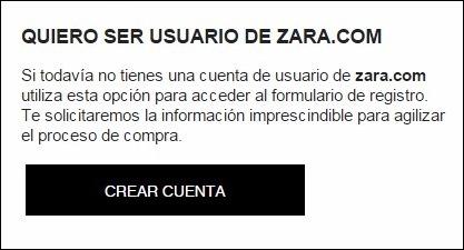 Abrir mi cuenta Zara - 154