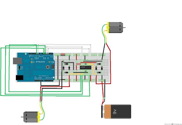 Arduino motor drive shield L298 L298N L298P - Indoware