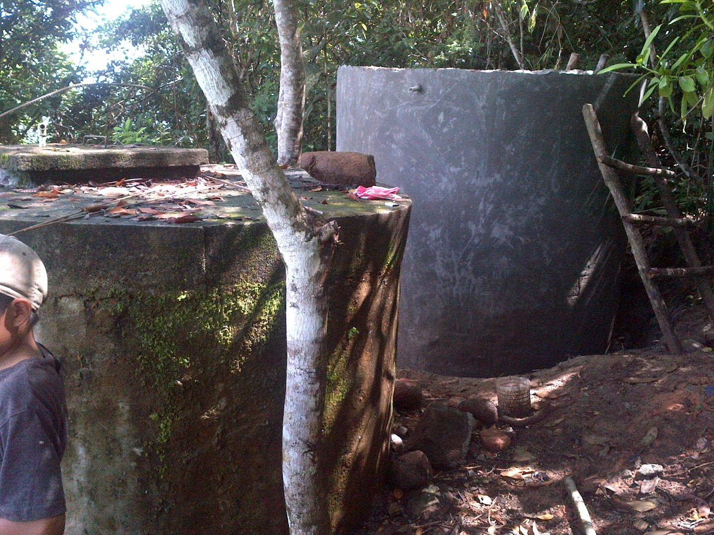 Old and new water tanks