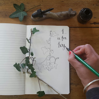 Ivy handlettering :: www.AliceDrawsTheLine.co.uk