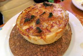 Au Pied De Cochon for 10 ladies on September 13, 2014 - Soupe A L'Oignon, French onion soup with foie gras