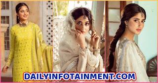 Actress Sajal Aly Lavish Pictures from Photoshoot for Faiza Saqlain