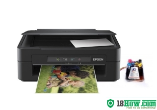 How to reset flashing lights for Epson XP-100 printer
