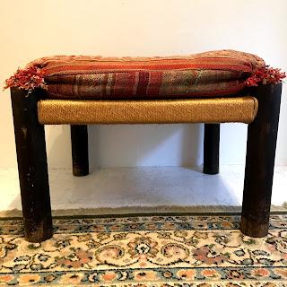Nettle Creek Rush-Seat Ottoman