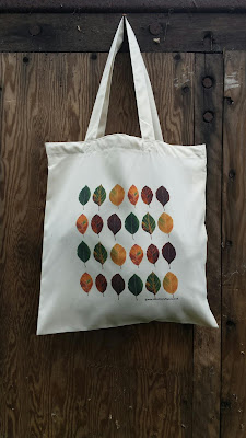 Beech Leaf Bag - Recycled Tote Bag by Alice Draws The Line