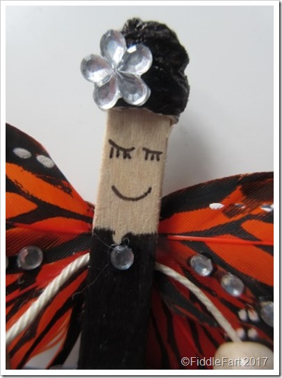 Popsicle Stick Gothic Fairy