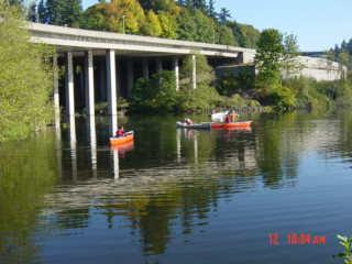 Interstate 5 bridge at Capitol Lake