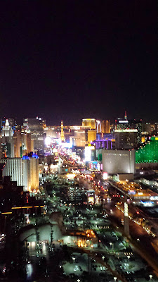 View from the Foundation Room at the Mandalay Bay, Las Vegas