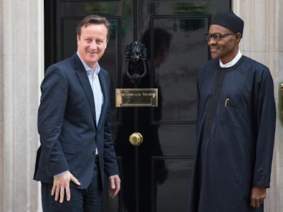 UK Prime Minister David Cameron and Buhari in London in 2015