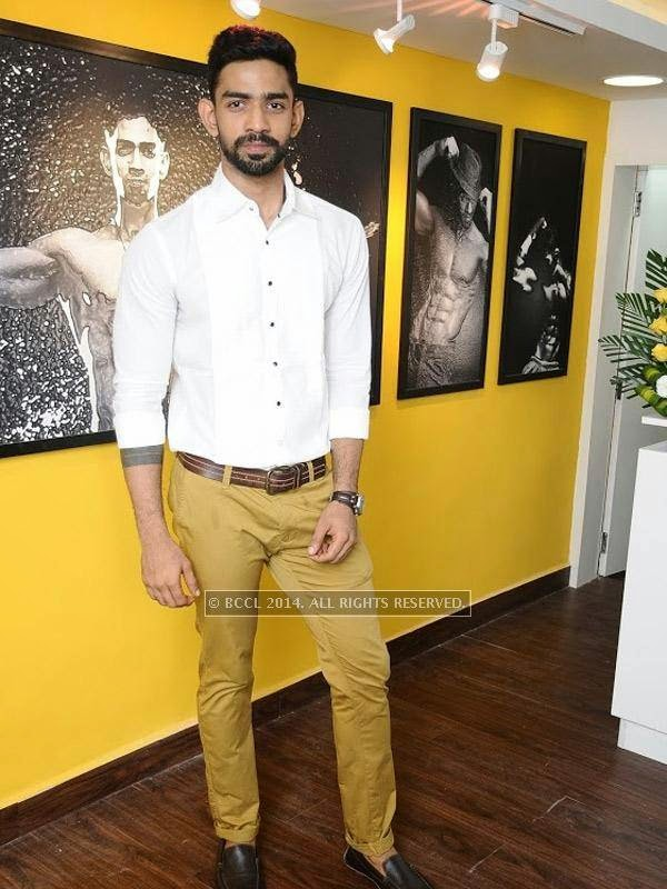 Barath at the launch of the fitness studio Body Shape in Chennai.