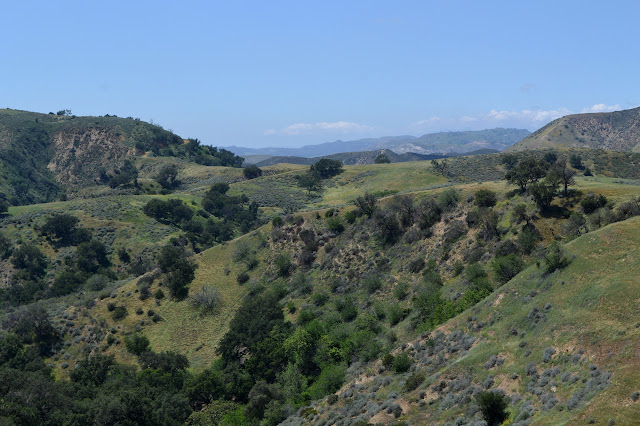 over the ridge into Las Llajas Canyon