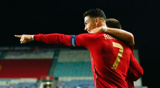 Cristiano Ronaldo menjaringkan hatrik ketika Portugal vs Luxembourg.