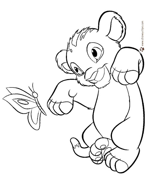 The Lion King Printable Coloring Pages  Disney Coloring Book In Simba Coloring  Pages