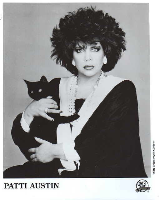 Patti Austin and a cat
