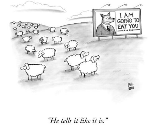 ovejas y lobo trump