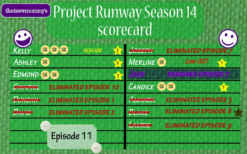 Fantasy Project Runway Season 14 Scorecard - The Runway's in 3D (14x11)