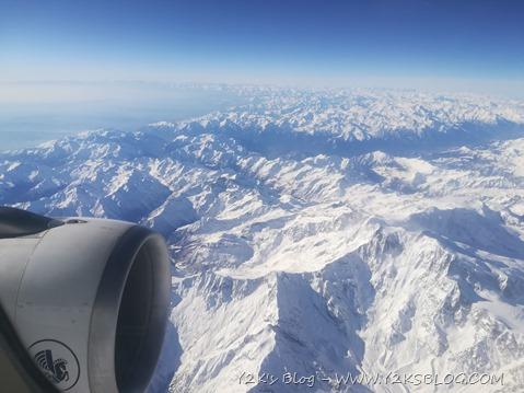 In volo sulle Alpi, direzione Parigi