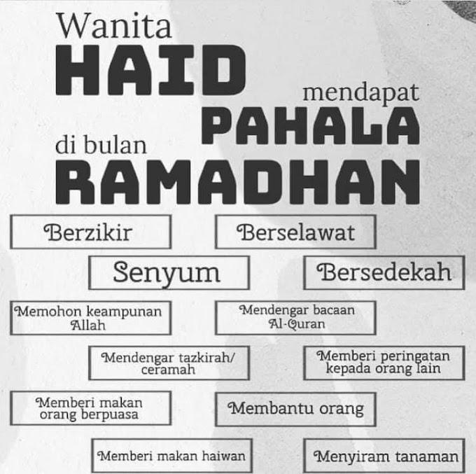 Wanita Haid Mendapat Pahala di Bulan Ramadhan