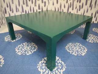 Green Lacquered Coffee Table
