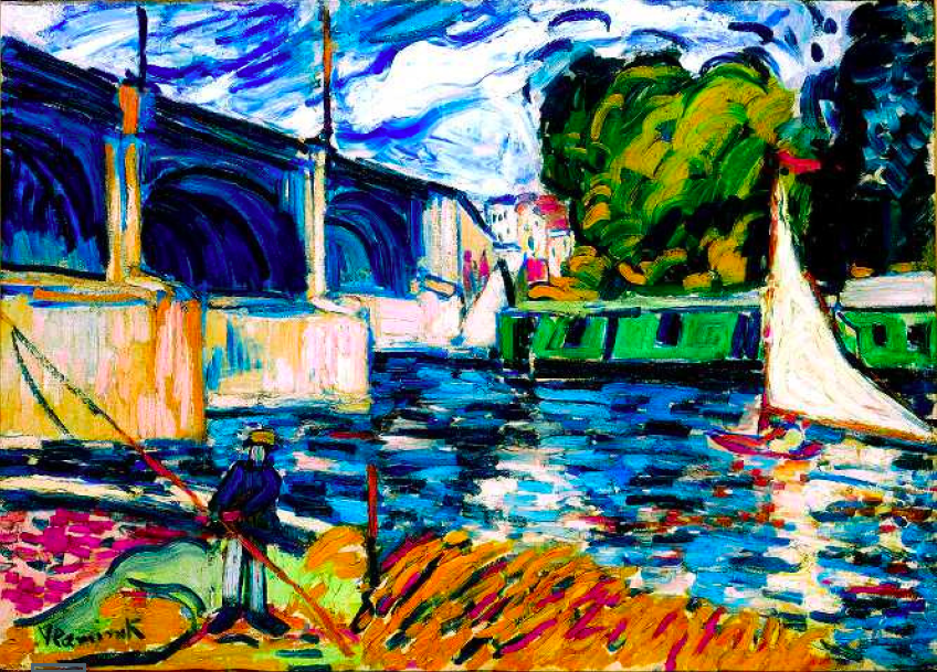 Maurice de Vlaminck - The Chatou Bridge, 1907